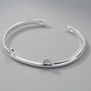 Bracelet ajustable - Oreilles de chat en argent