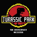 T-shirt Jurassic Park - No internet Access