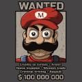 Tshirt Mario Avis de recherche - Bandit