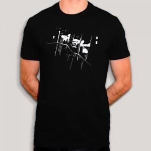 Tshirt DC Comics - Batman The Dark Knight - Noir & blanc