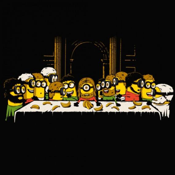 T-shirt Minion Last Meal (La Cène)