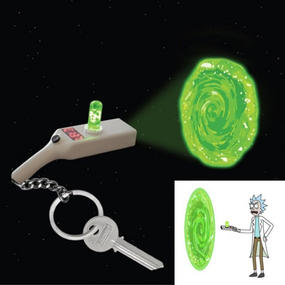 Porte Clés Rick and Morty Portal Gun projecteur