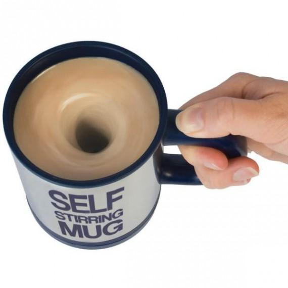 Mug avec melangeur automatique