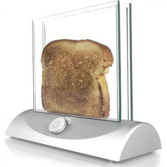 Le grille pain transparent