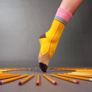 Chaussettes crayon à papier