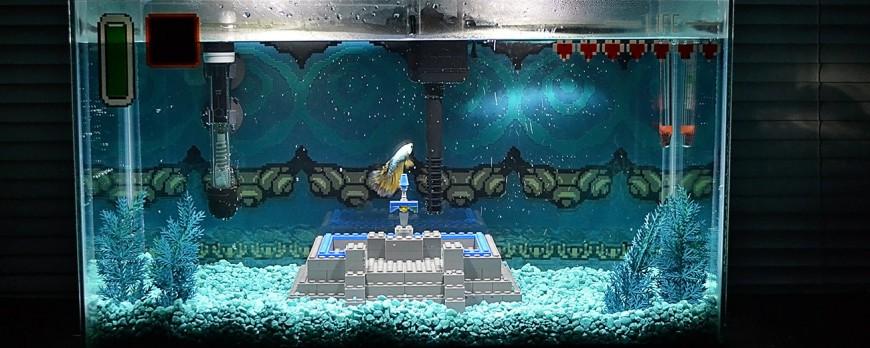 décoration aquarium seigneur des anneaux
