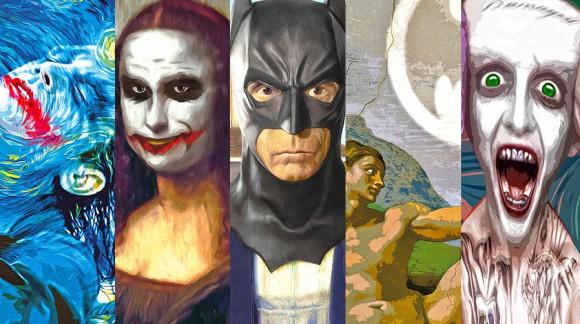 Quand Batman se retrouve peint par Michel-Ange, Léonard de Vinci et d'autres ... Voilà ce que ça donne !