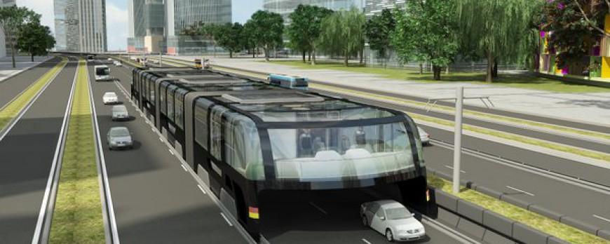 la chine va cr er un bus enjambeur de voitures pigsou mag. Black Bedroom Furniture Sets. Home Design Ideas