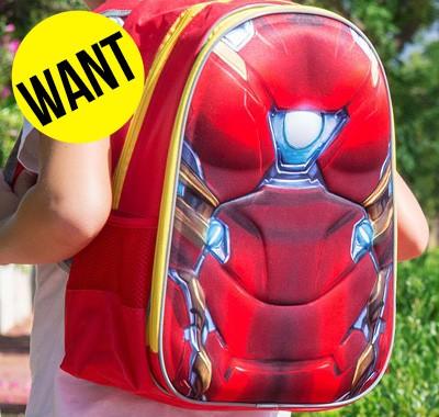 Sac à dos scolaire 3D Iron Man