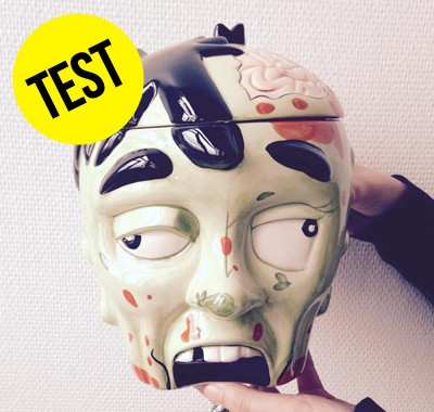 Le test de la tête de zombie boîte à biscuits