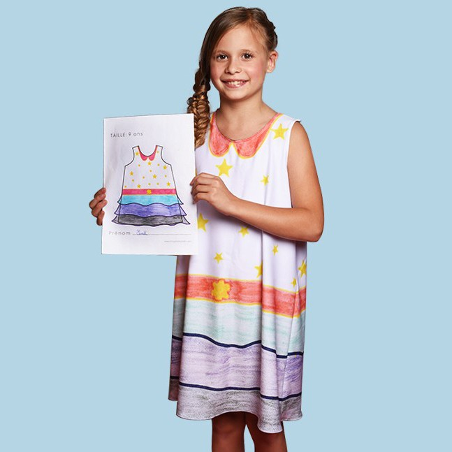 Robe de fille personnalisée à partir d'un dessin