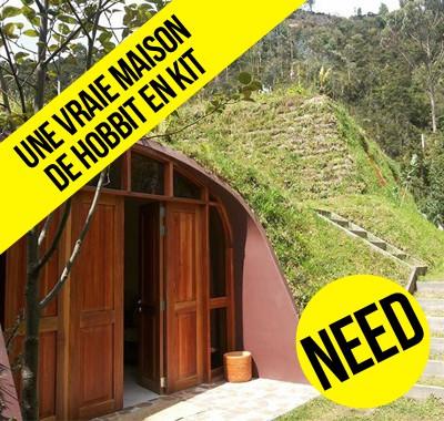 Une vraie maison de hobbit en kit